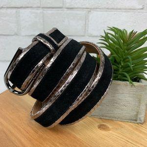 Calvin Klein genuine leather  black suede belt